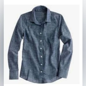 Jcrew perfect shirt chambray collared button front